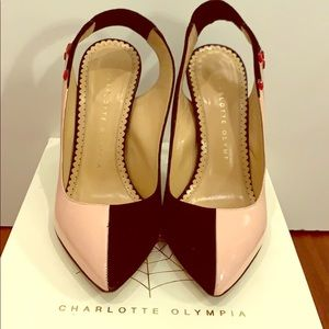 "Charlotte Olympia ""hands"" slingback pumps"